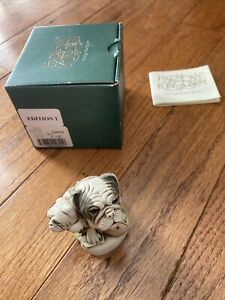 Harmony Kingdom DEAD RINGER BULLDOGS  Trinket Box  1998 TJH03 New In Box!