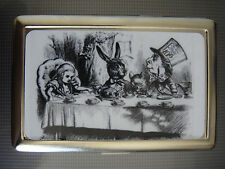 Alice In Wonderland D 032 Metal Silver Cigarette Case Mad Tea Party John Tenniel