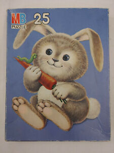 Bunny 25 pc Jigsaw Puzzle Milton Bradley Cute Whimsy Pieces Child/Kids