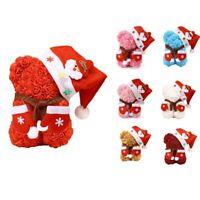 Rose Flower Bear - Christmas Rose Teddy Bear - Birtays,Valentine's Day- C Y4B4