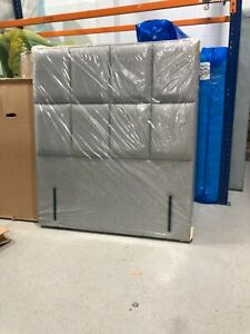 HYPNOS VICTORIA DOUBLE 4FT6 WIDE (140CM) TALL HEADBOARD PAN MARN SILVER RRP£1236