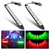 2X LED STRIP DRL DAYTIME RUNNING LIGHTS FOG CAR LAMP DAY DRIVING 12V Red Green