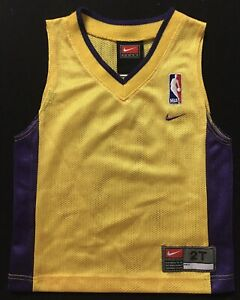 Vintage Authentic Nike Los Angeles Lakers Toddler Baby NBA Jersey 2T Made in USA