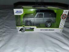 New ListingJada Toys 1973 Ford Bronco Silver 1:32 Diecast Just Trucks