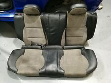 MG ZR TROPHY INTERIOR REAR SEATS HALF LEATHER BACK / GREY with HEAD RESTS