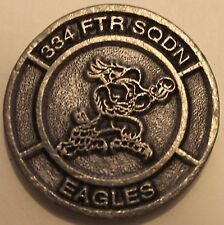 334th Fighter Squadron Eagles F-15E Tail Number 88-1679 Air Force Challenge Coin