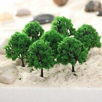 20X Green Trees Model Train Railway Street Wargame Scenery Layout HO 1:100 Scale