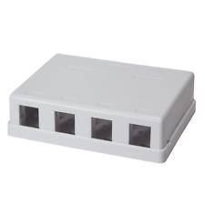 1x Keystone Aufputz Leergehäuse Leerdose Modular 4 Port UTP für 4x Keystone Jack