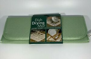 """16"""" x 18""""  Dish Drying Mat  Microfiber  Absorbent  Machine Washable  Fast Drying"""