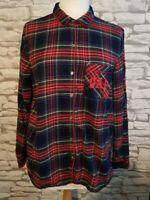 Pendleton GAP women's Checked Long Sleeve pyjama Shirt Size M 12 uk