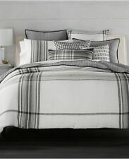 Hotel Collection Linen Ticking Stripe Duvet Cover QUEEN NEW MSRP $470