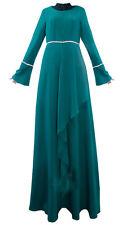 Muslim Long dress Islamic Abaya Kaftan Jilbab Women Dubai Cocktail dress Maxi L