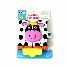 Baby Activity Soft Book with Teether Gift Farm Galt Toy Crinkle Squeak Texture