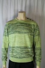 Fenchurch Mens Green Twister Stripe Round Neck Jumper Size Medium (F2)