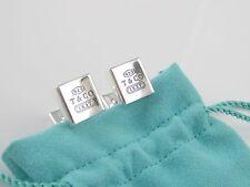 Tiffany & Co RARE Silver 1837 Square Cuff Link Cufflink Cufflinks!