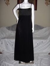 DESSY CREATIONS 10 DRESS GOWN BLACK  BRIDESMAID PROM FORMAL NWT