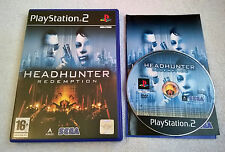 Headhunter: Redemption for Sony PlayStation 2 - Complete - PS2 - VGC - PAL