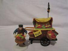 Dept 56 Dickens Village Series Chelsea Market Fruit Monger and Cart