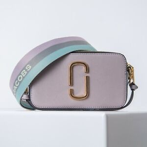 MARC JACOBS DUSTY LILAC MULTI 559 The Snapshot Small Camera Bag Crossbody Auth