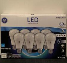 GE LED Soft White Bulb A19 60W White 8 Pack Light Bulbs Energy Saving 2019
