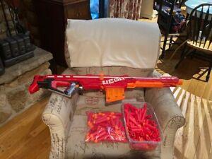 NERF Mega Centurion N-Strike Elite Rifle Blaster Dart Gun with tons of darts