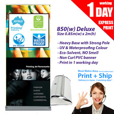Premium Pull up banner / Roll up Banner (with Printing) 850mm x 2000mm
