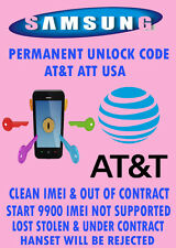 SAMSUNG GALAXY S3 S4 S5 S6 PLUS NOTE 5 UNLOCK CODE USA AT&T NO CONTRACT ONLY