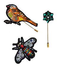 Bird 3er Set Brooches Ziernadeln Trendbroschen Ella Jonte Brooch Bee Flower +