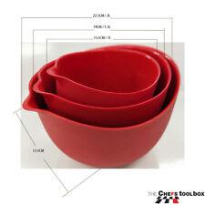 Chef's boxtool silicone mixing bowl Set 3 bowls 1L 1.5L & 2L