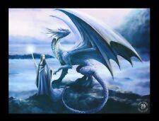 3d CUADRO CON DRAGÓN - New horizon - Anne Stokes Fantasy Impresión Lienzo Foto