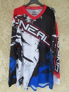 Maillot O'NEAL noir blanc bleu manches longues shirt 2XL XXL
