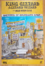 Music Poster Promo King Gizzard and the Lizard Wizard Sketches of Brunswick