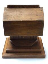 Vintage wooden toothpick dispenser