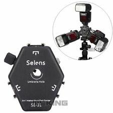 Selens SE-31 Triple Hot Shoe Mount Flash Holder Bracket for Light Stand Umbrella