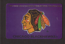 Chicago Blackhawks NHL Hockey Phone Card Expired