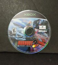 Burnout 2: Point of Impact (Microsoft Xbox, 2002) Disc Only