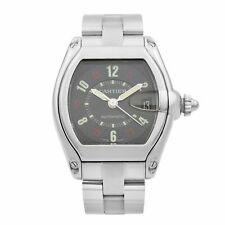 Cartier Roadster Acero Inoxidable Reloj de Hombre con Dial Negro Automático W62002V3