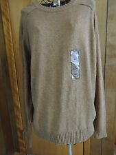 NWT Mens XL Knightsbridge Tan Heather LS Crewneck Sweater