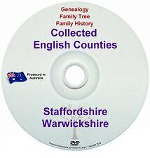 Genealogy England Staffordshire Warwickshire books DVD
