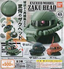Bandai Mobile Suit Gundam Exceed Model Zaku Head Gashapon Part 1 Set of 3pcs