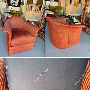 MAGNIFICENT HOLLYWOOD REGENCY CLUBCHAIR BY canapes DUVIVIER PARIS