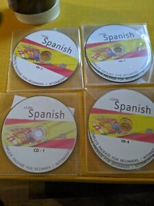 Learn to Speak Spanish - Beginners Audio course -  Supplied on 8 CD's