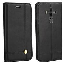 Edle Buch Klapp Tasche Schutz Hülle BLA-L29 für Huawei Mate 10 Pro Dual SCHWARZ