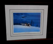 Gale Running Wolf Sr Guardian Wolves Spirits Print Matted Limited Edition