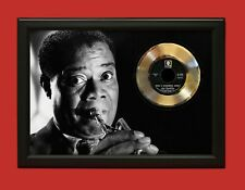 Louis Armstrong Poster Art Wood Framed 45 Gold Record Display C3
