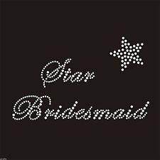 Rhinestone Crystal iron on T Shirt Design - Star Bridesmaid