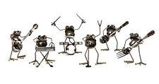 Sugarpost Scrap Gnome Be Gone Mini 6 Piece Rock Band Metal Art Sculpture #1033