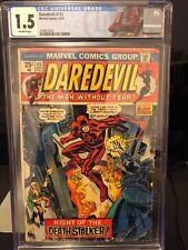 DAREDEVIL #115 CGC 1.5 AD FOR INCREDIBLE HULK 181 BLACK WIDOW DEATH DEATHSTALKER