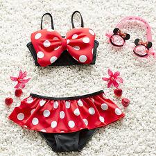 3e164a3c2a491 US STOCK Summer Baby Girl Kids Bathing Suit Swimwear Bikini Set Tankini  Swimsuit