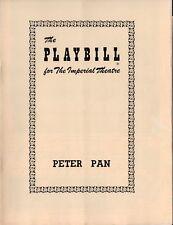 PETER PAN - 1950 Imperial Theatre Booklet NYC - Leonard Bernstein, Boris Karloff